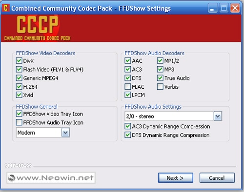 divx mp4 windows vista codec: