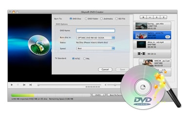 Burn DVDs and Create DVD Files Effortlessly