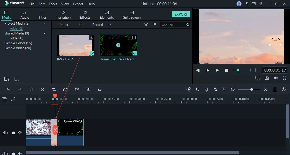 add video to timeline