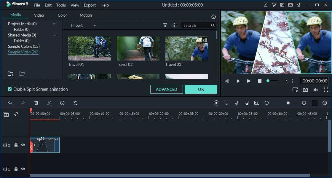split screen videos