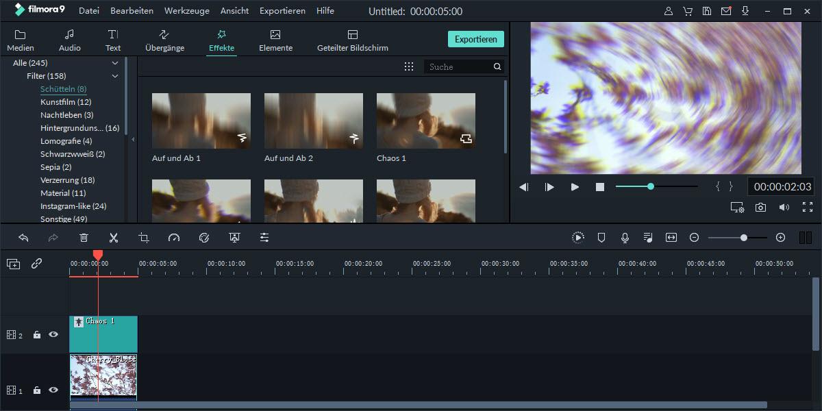 [2 Wege] Wie kann man ein Video mit Video-Shake-Effekt erstellen