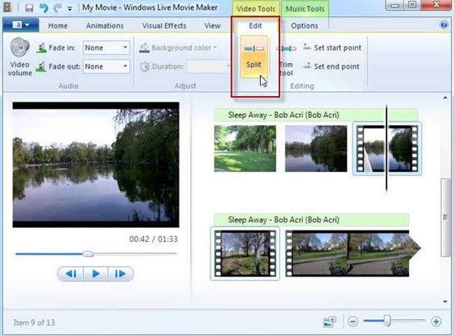 mirror video in windows movie maker
