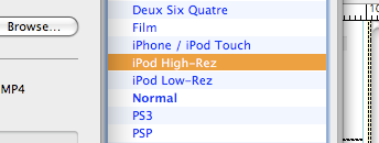 handbrake ipod touch