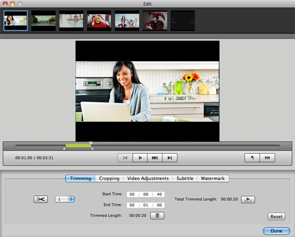 iSkysoft iMedia Converter for Mac Screenshot