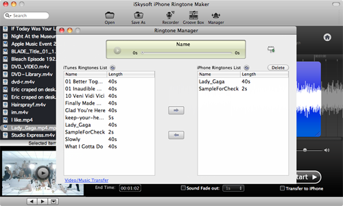 iSkysoft iPhone Ringtone Maker for Mac Screenshot