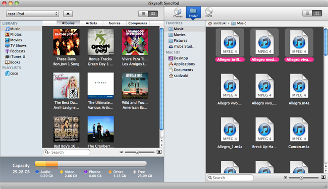 iSkysoft SyncPod for Mac Screenshot