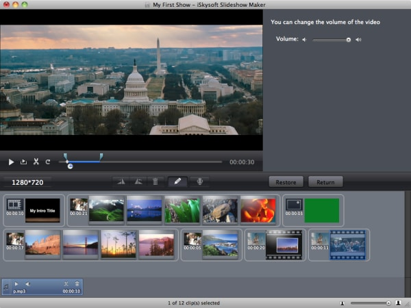 iSkysoft Slideshow Maker for Mac Screenshot
