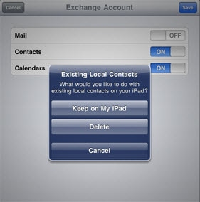 sync gmail contacts with ipad
