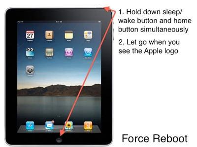 restart iPad