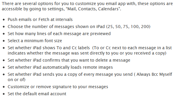 iPad email troubleshooting