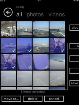 create iPad photo albums