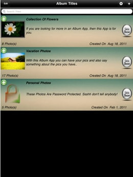 add iPad photo albums