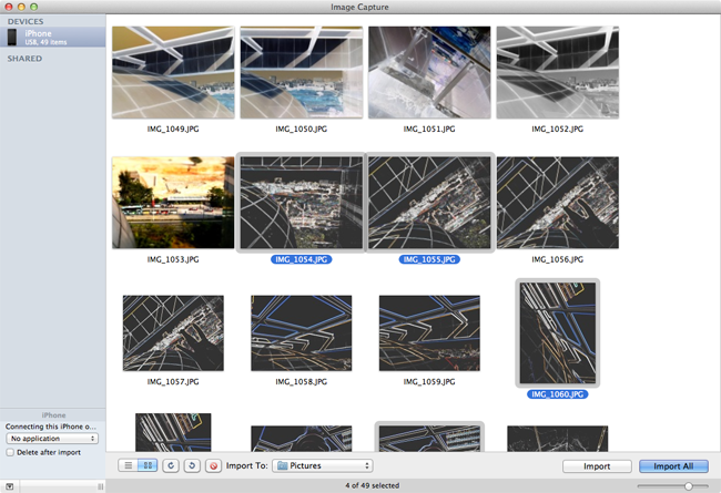 Transfer Camera Roll Photos to Mac with Image Capture