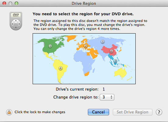 play different region DVD's on your Mac