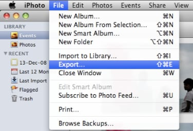photos from iPhoto to Facebook on Mac