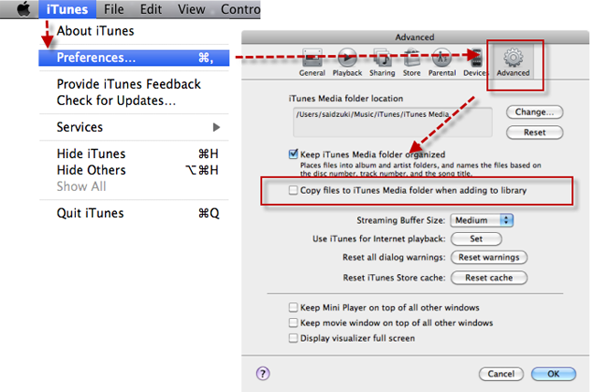 how to clear itunes library on mac