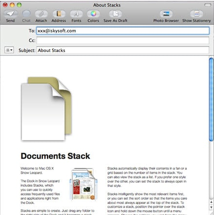 how to send a document in pdf format