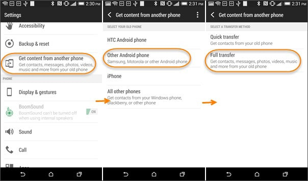 android data transfer tool HTC Transfer Tool
