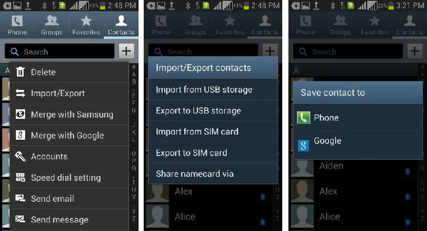 transferring contacts from iphone to android