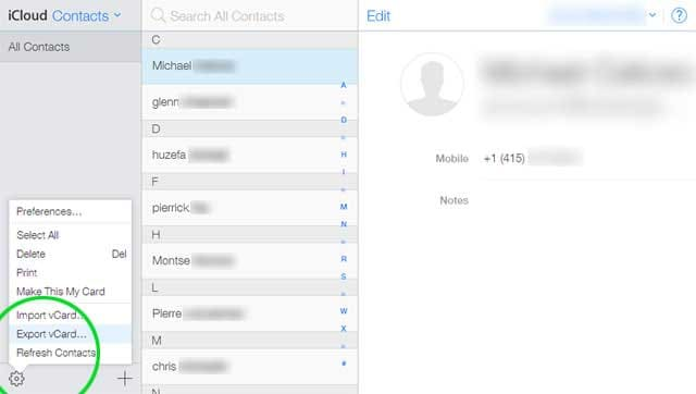 how to send contacts from iphone to android