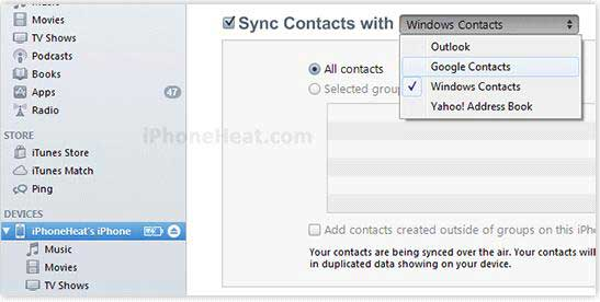 How do I Transfer Contacts from iPhone to Android