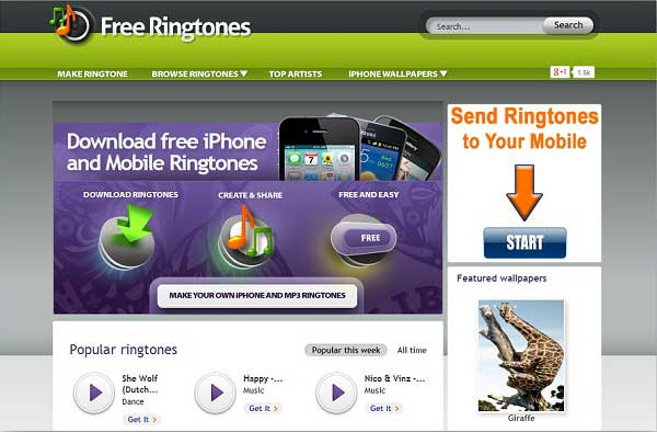 Download ringtones for cell phone