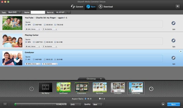 iSkysoft iMedia Converter Deluxe for Mac Screenshot