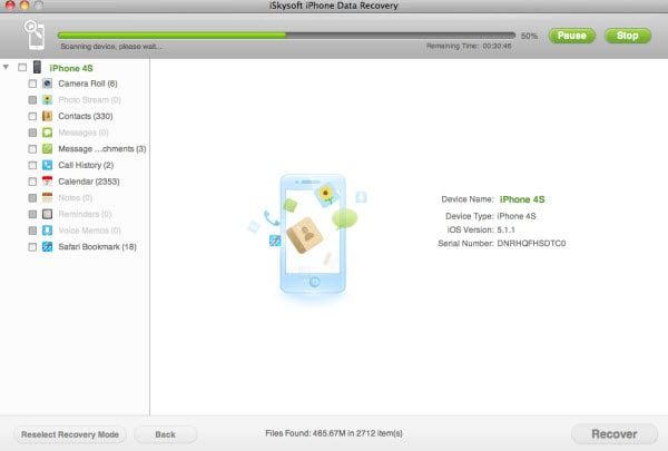 recover lost data from iPhone