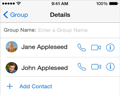 how to change name on text message iphone
