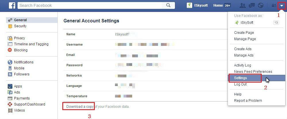 Как в фейсбук сохранить