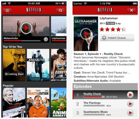 Watch Netflix videos on Android