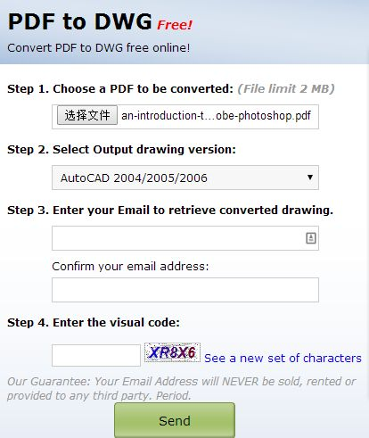 Pdfin pdf to dwg converter
