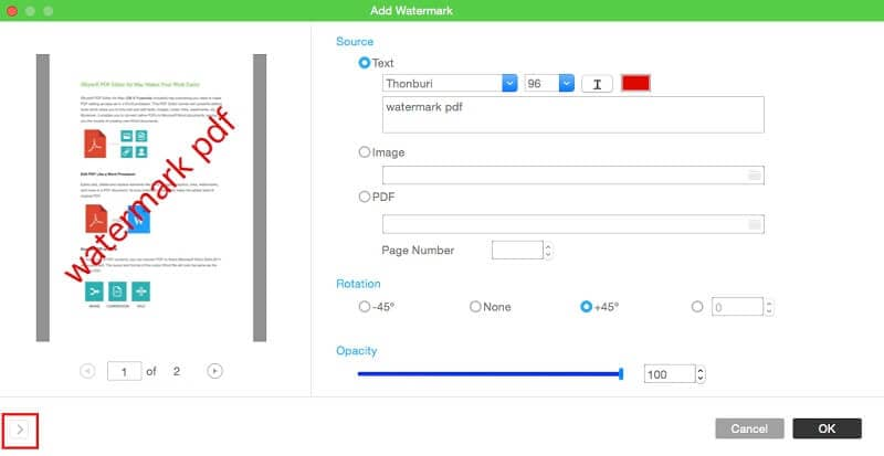 edit pdf watermark