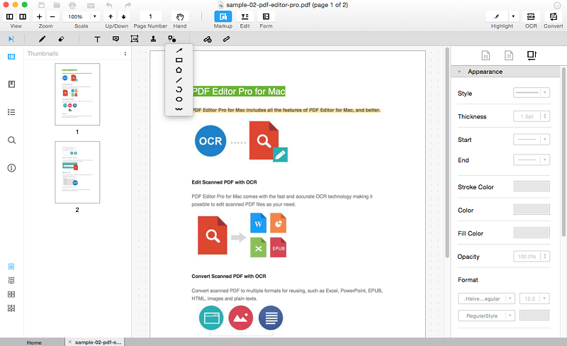 annotate PDF on Yosemite