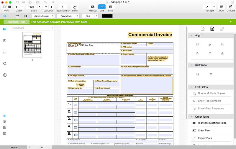 convert pdf to form