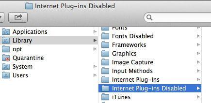 how to delete safari plugins