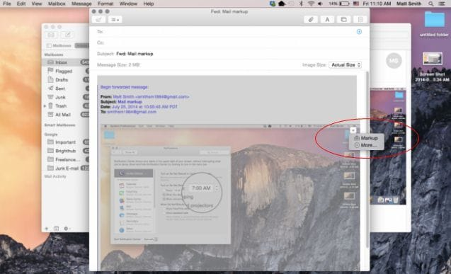 How to Make the Mail Markup in OS X Yosemite on PDF Easier