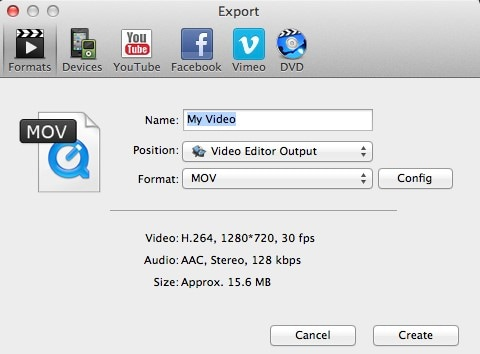 iSkysoft Video Editor for Mac Screenshot
