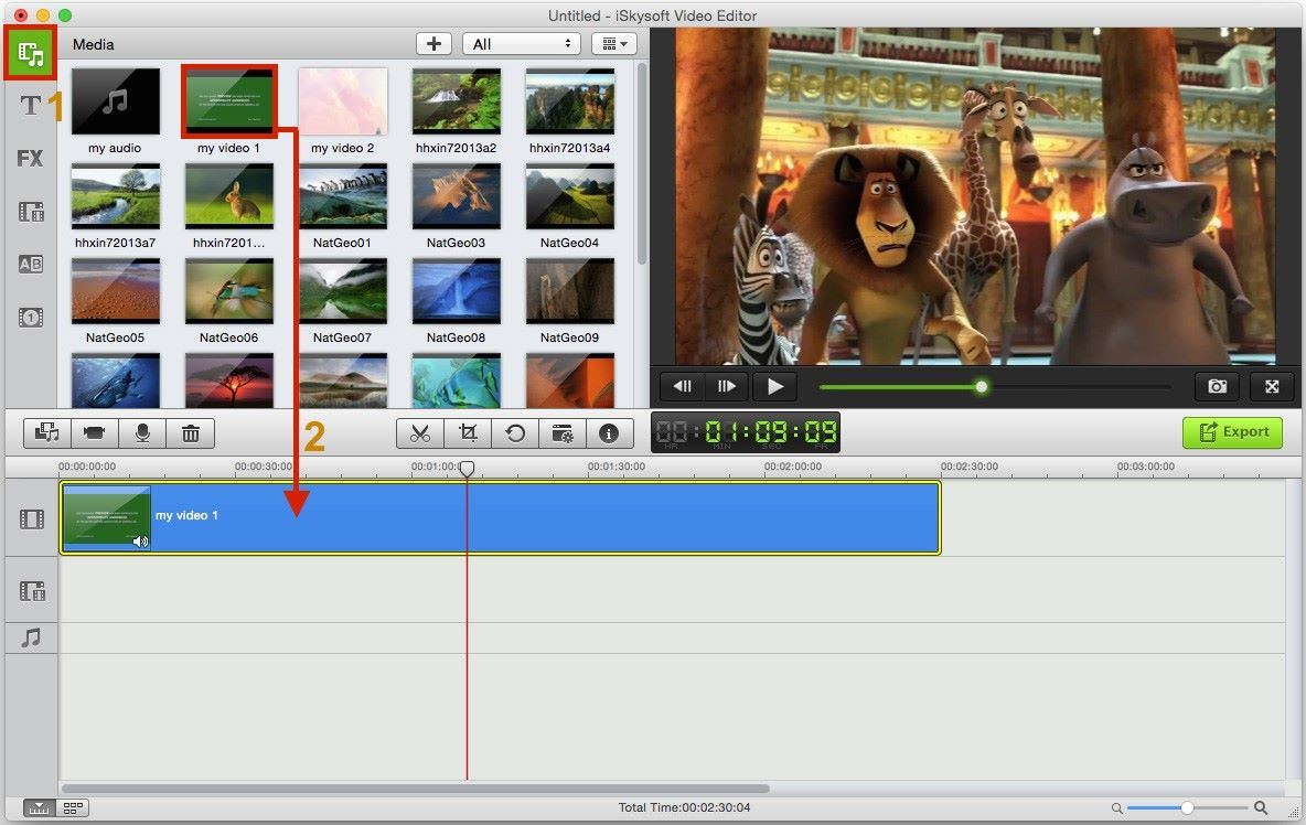 Movie maker picture overlay