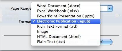 pdf to epub mac