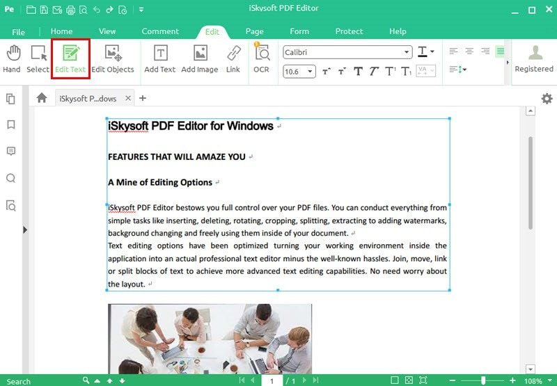 Edit PDF Texts on Windows