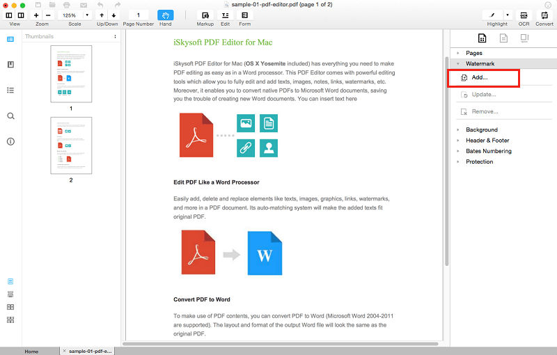 remove watermark from pdf mac