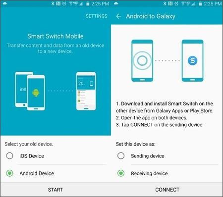 transfer huawei to samsung s9
