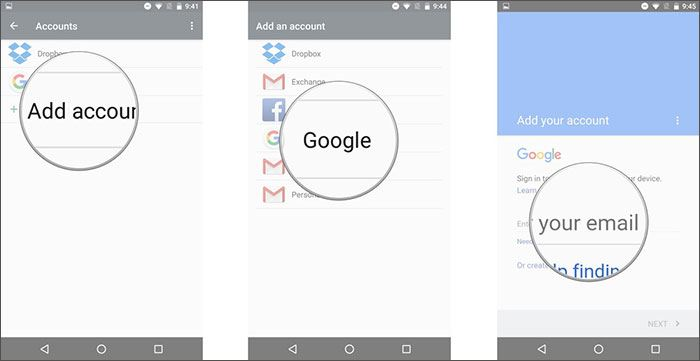transfer text messages from android to android