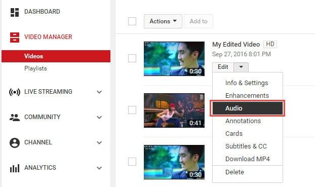 audio zu youtube video hinzufügen