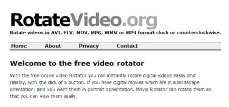 rotate a video in VideoPad Video Editor