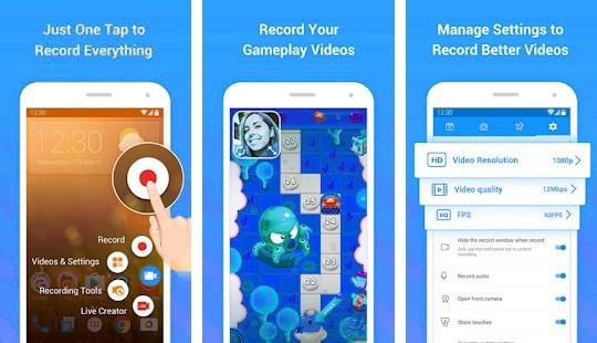grabar la pantalla de Android con DU recorder