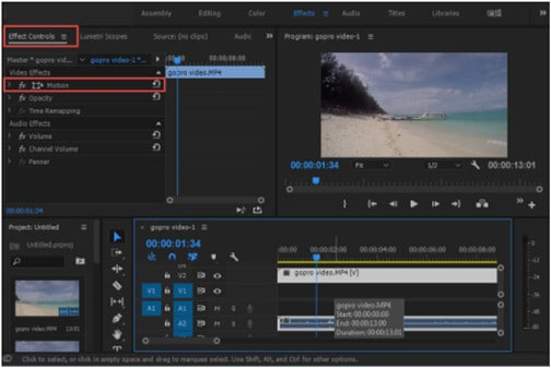 premiere pro rotate video