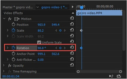 how to rotate a video in premiere pro