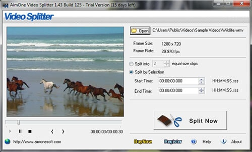 how to split flv on windows 8
